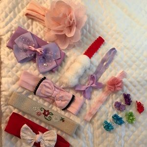 14pcs. Baby Toddler Hair Accessories 0-36 mths.